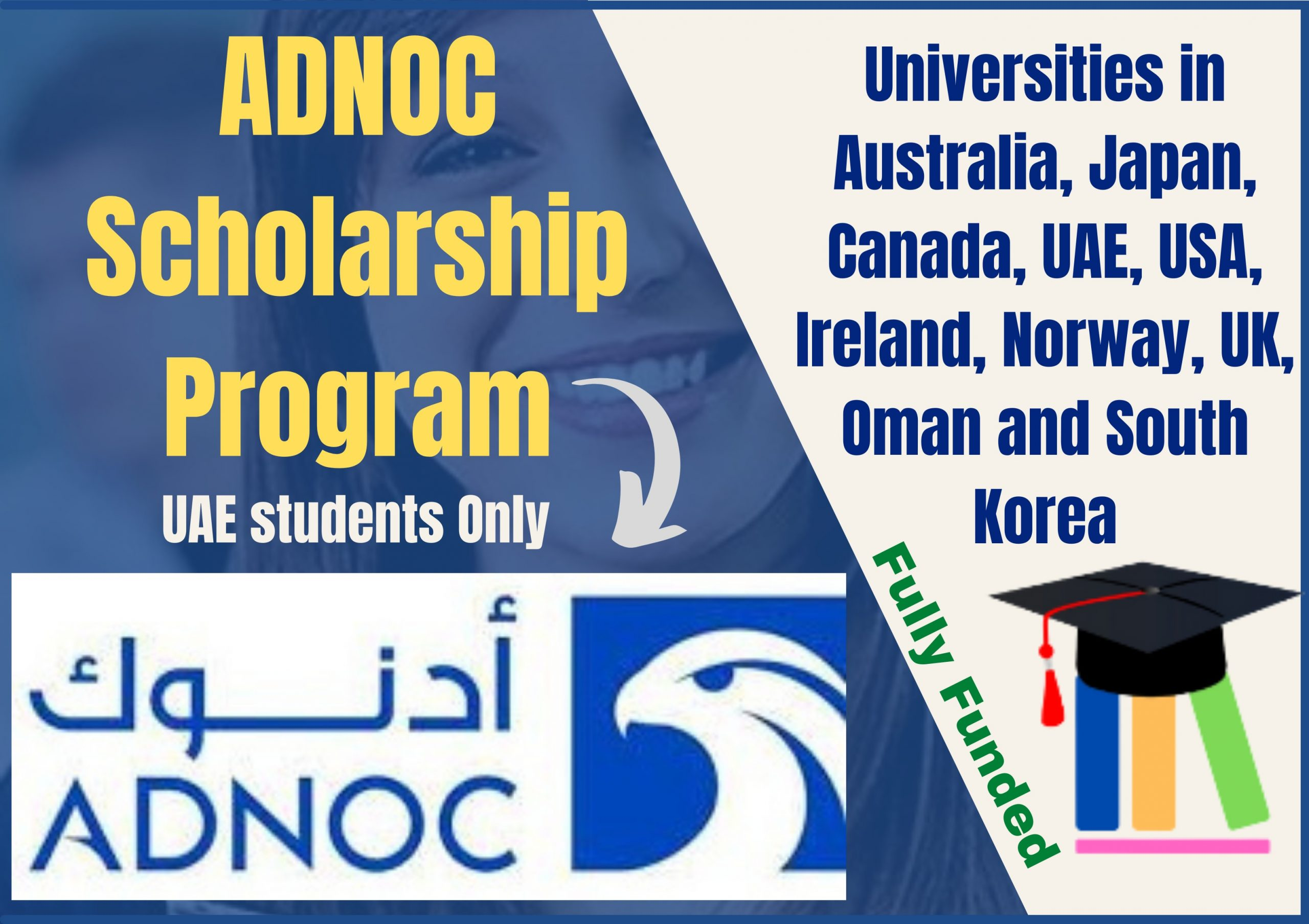 ADNOC Scholarship Program Universities in Ten Different Countries (UAE students Only)