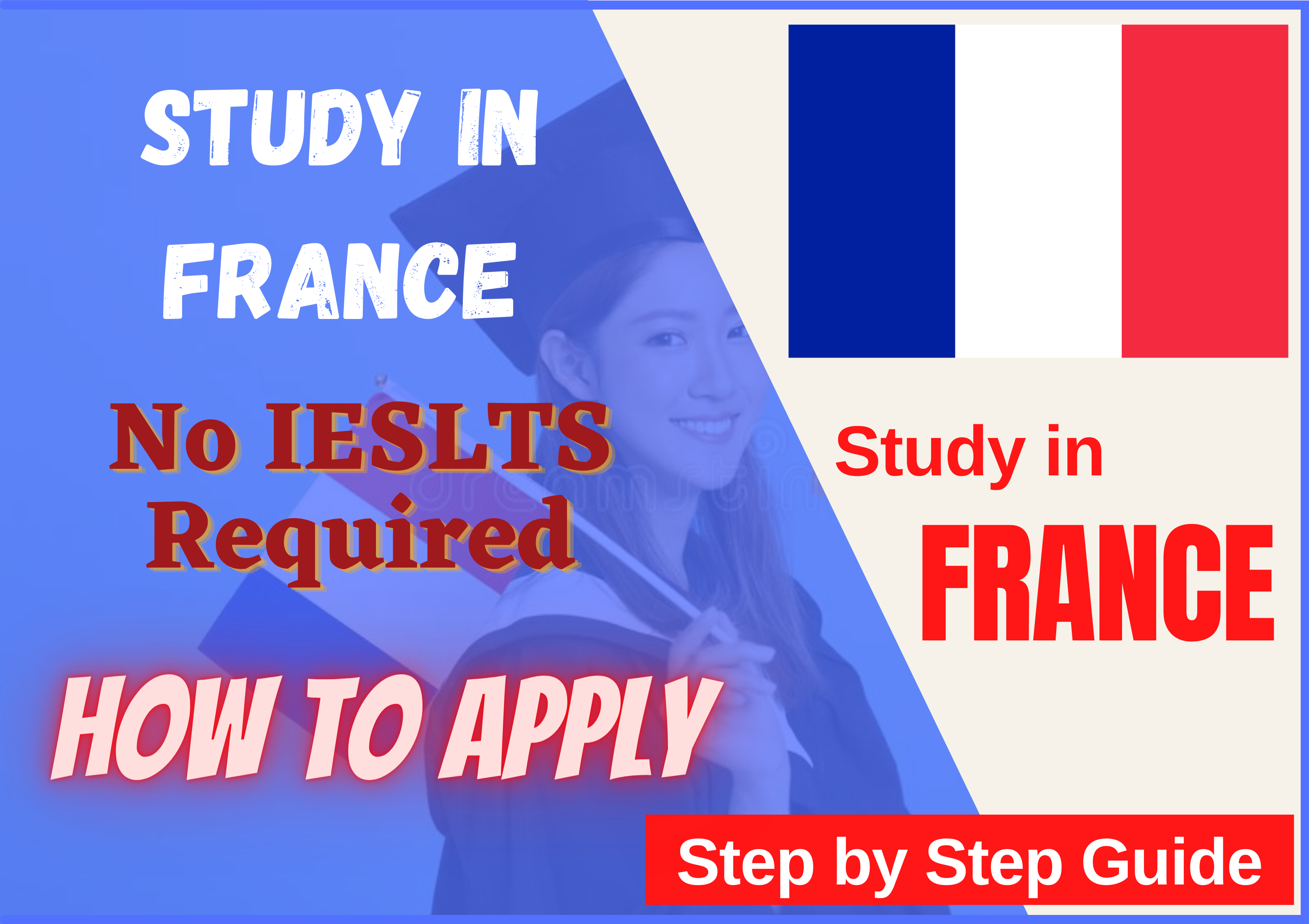 Study in France without IELTS in 2021 | How to Guide