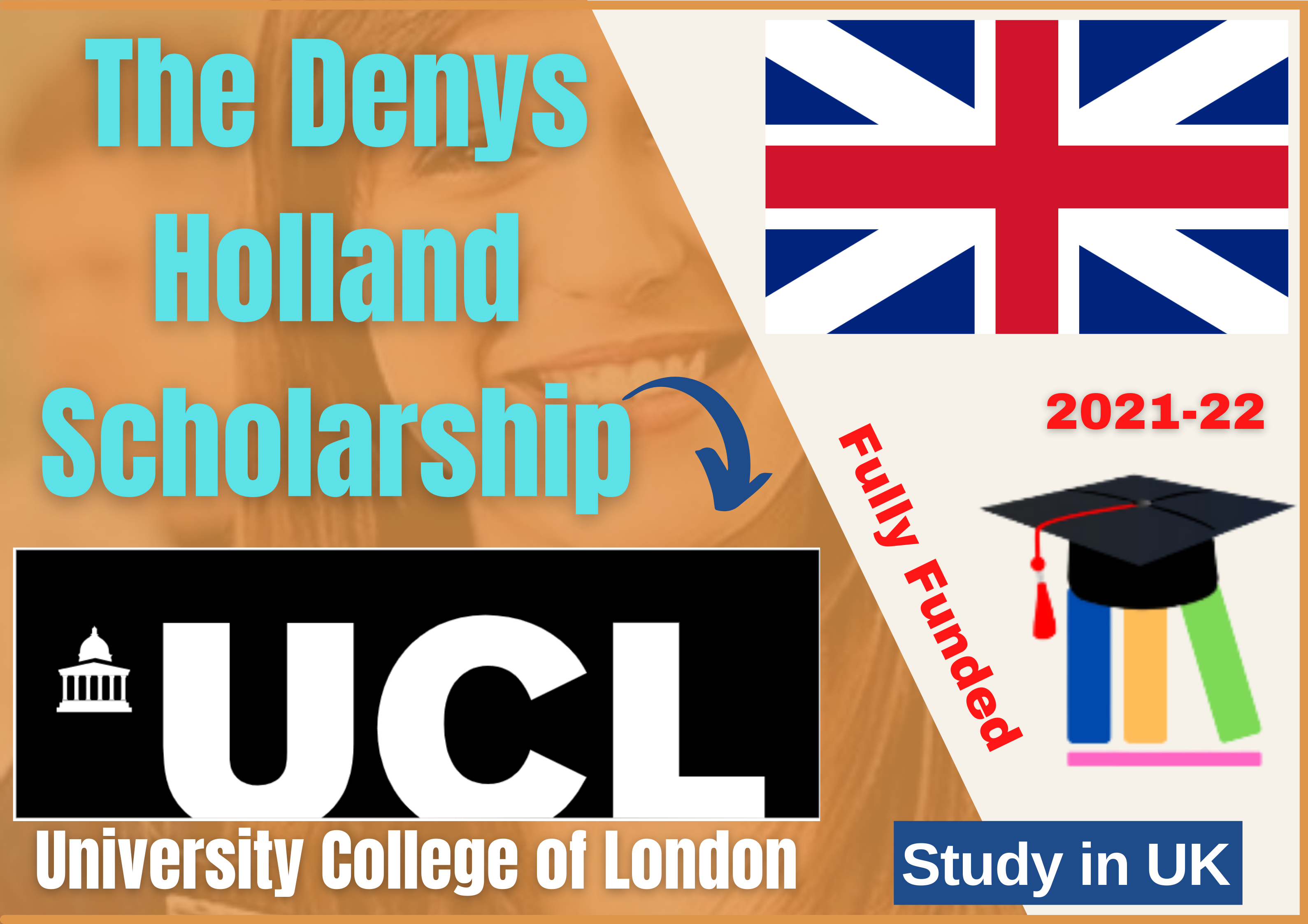 The Denys Holland **Fully Funded** Scholarship at University College London 2021-2022